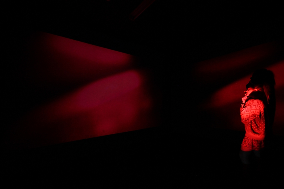 2012 Red Cell (Rothko Revolver) (video installation view)